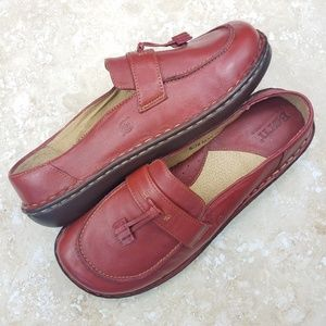 Born Red Leather Slip On Loafers